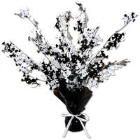 Club Pack of 12 Skull & Crossbones Black and White Centerpieces 15''