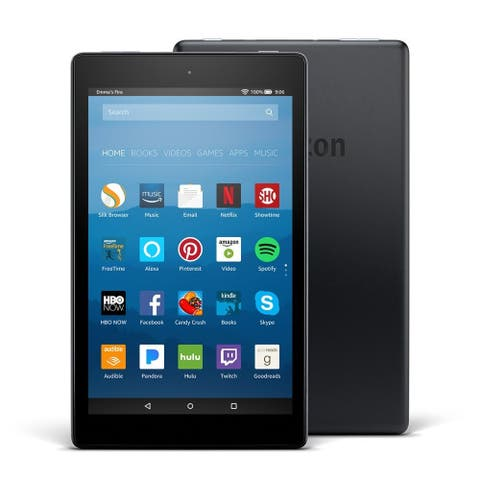 """Amazon Fire HD 8 Tablet with Alexa, 8"""" HD Display, 16 GB, Black - with Special Offers"""