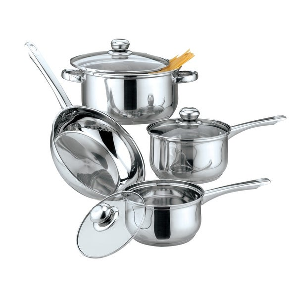 Culinary Edge 02177 Classic 7 Piece Cookware Set, Stainless Steel. Opens flyout.