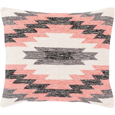 The Curated Nomad Shannon Handwoven Southwestern 18-inch Throw Pillow with Poly or Down Fill