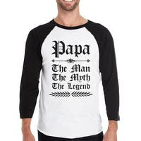 Vintage Gothic Papa Mens Raglan Shirt Lovely Fathers Day Gift