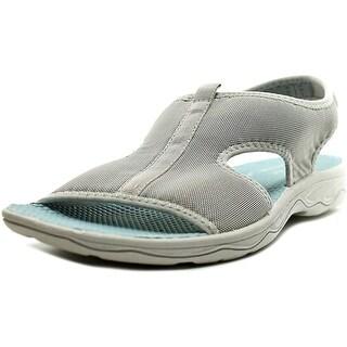 Easy Spirit Yamaste Women Open-Toe Canvas Gray Slingback Sandal