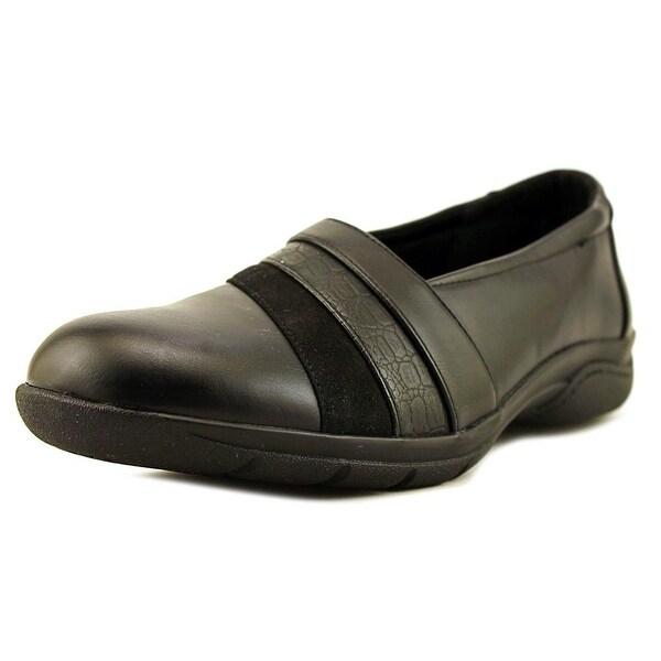 Studio Works Blair Women Round Toe Leather Black Loafer