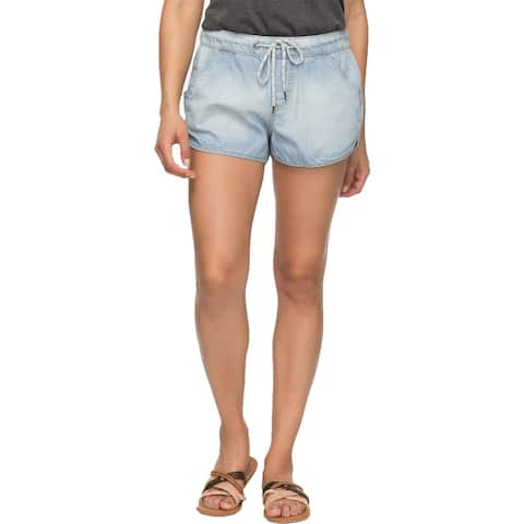 Roxy Womens Music Never Stop Women Casual Shorts Denim Pull On