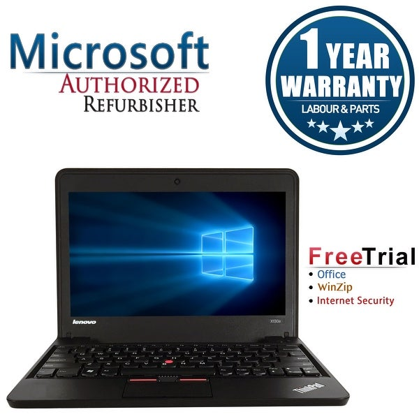 "Refurbished Lenovo ThinkPad X131E 11.6"" Intel Core i3-3227U 1.9GHz 4GB DDR3 320GB Win 10 Pro 64 (1 Year Warranty) - Black"