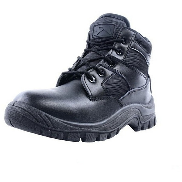 "Ridge Tactical Boots Men Nighthawk Mid 6"" Shaft Lace Up Black"