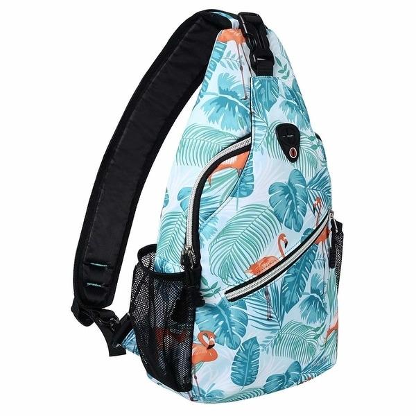 b440c80e244 Sling Backpack, Polyester Crossbody Shoulder Bag for Men Women ...