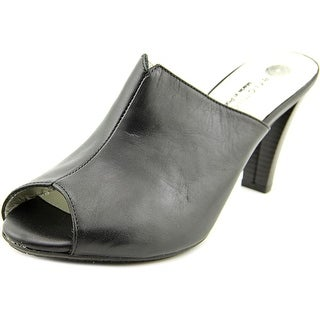 Eric Michael Kathy Open-Toe Leather Mules