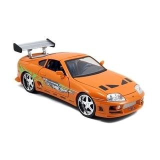 Fast & Furious 1:18 Diecast Vehicle: Orange Toyota Supra