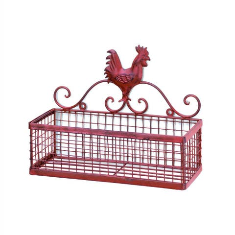 Country Rooster Single Wall Rack