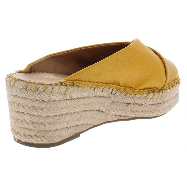 Franco Sarto Womens Polina Criss-Cross Front Wedge Sandals