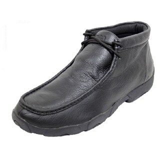 Link to Twisted X Casual Shoe Men Leather Driving Moccasin Softy Black - Softy Black Similar Items in Golf Shoes
