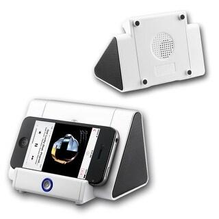 Indigi® Mini Induction Speaker Stand - iOS & Android Compatible - Alpine White - 750mAh - Universal Compatibility