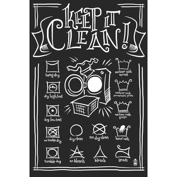 Laundry Symbols (Black) - LP Artwork (Light Switchplate Cover)
