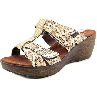 Helle Comfort Mod Garden Women Open Toe Leather Wedge Sandal