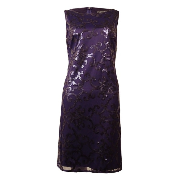 Jessica Howard Women's Sleeveless Sequin Dress - Navy