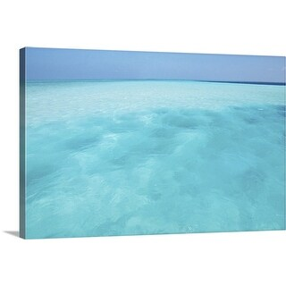 """Tropical ocean water"" Canvas Wall Art"