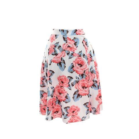 Inc International Concepts Pink Multi Floral-Print A-Line Skirt 10
