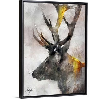 """Mystique Giants II"" Black Float Frame Canvas Art"