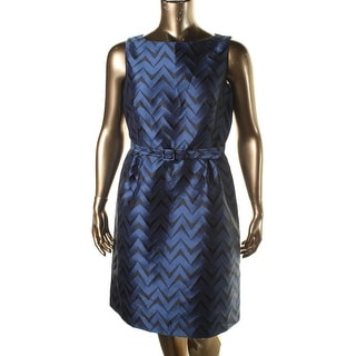 Anne Klein Womens Jacquard Chevron Wear to Work Dress