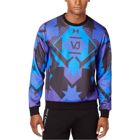 Versace Mens VJ Sweatshirt, Blue, Small