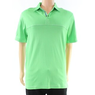 Bugatchi NEW Green Apple Mens Size Large L Polo Rugby Pima Cotton Shirt