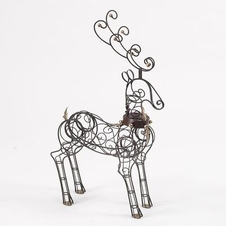 "30"" Christmas Traditions Small Decorative Display Reindeer Figure"