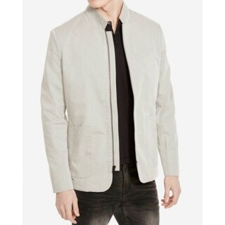 Kenneth Cole NEW Gray Mens Size L Full Zip Stone Longsleeve Jacket
