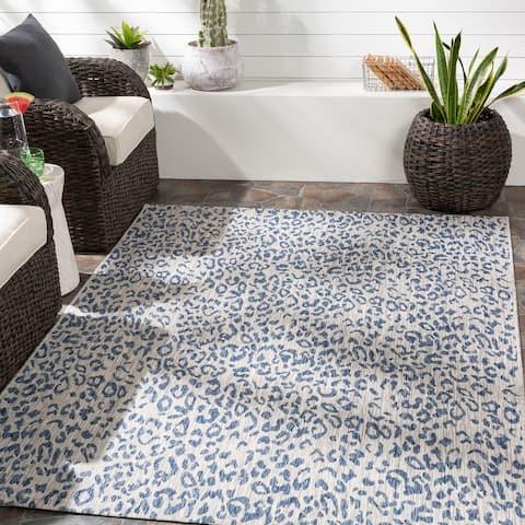 Rowdie Indoor/ Outdoor Leopard Print Area Rug