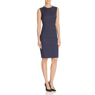 Elie Tahari Womens Emory Casual Dress Pindot Lace-Trim