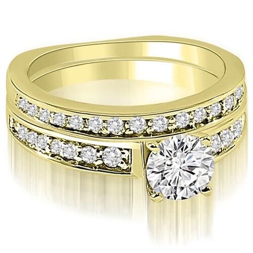1.25 cttw. 14K Yellow Gold Round Cut Diamond Bridal Set