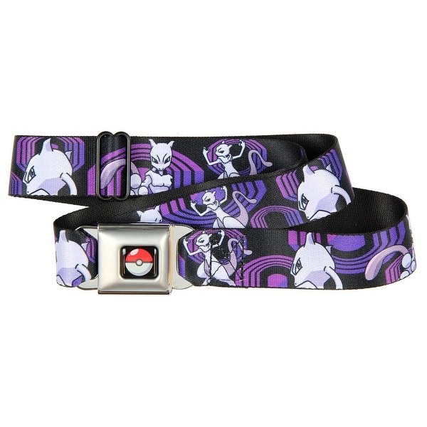 Pokemon Mewtwo Seat Belt Buckle Belt-Holds Pants Up