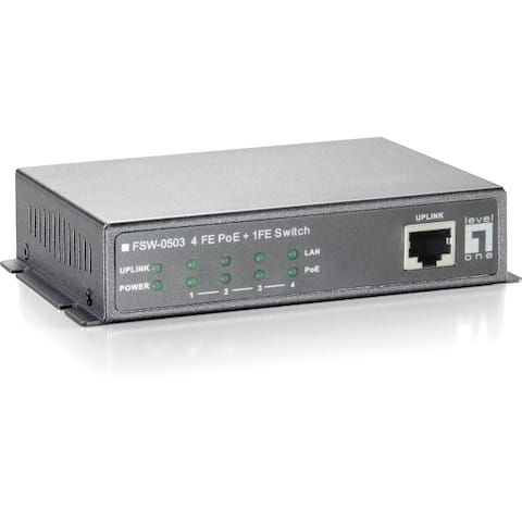 Cp technologies fsw-0503 4-port poe and 1-port 10/100