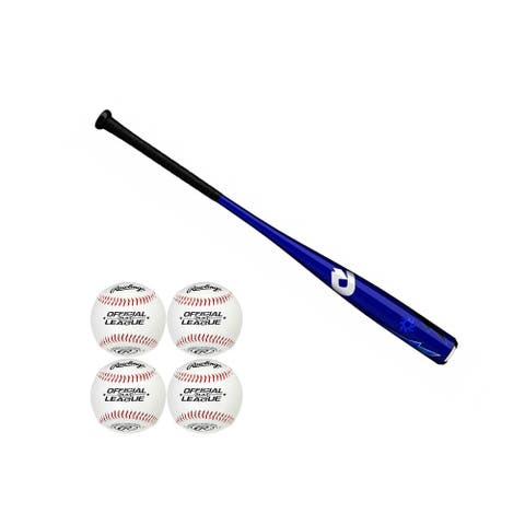 "DeMarini 2019 Voodoo One Balanced USA Baseball Bat (30""/20 oz) with Baseballs"