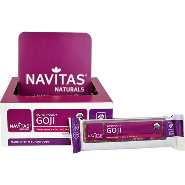 Navitas Naturals Superfood Bar - Goji Acai - Case of 12 - 1.4 oz.
