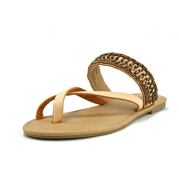 Mia Girl Maisy Women Open Toe Synthetic Tan Thong Sandal