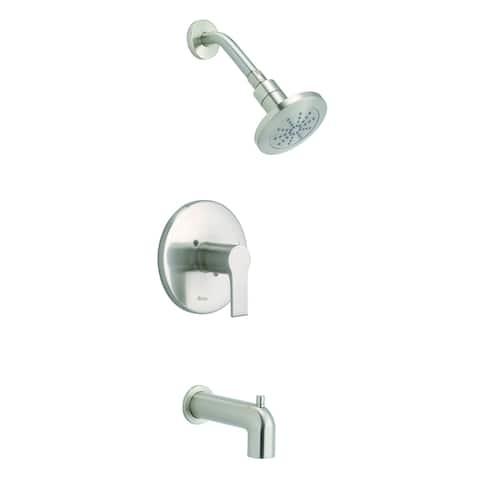 South Shore 1H Tub & Shower Trim Kit & Treysta Cartridge w/ Diverter on Spout 2.0gpm Brushed Nickel
