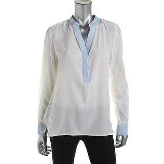 Dylan Gray Womens Silk Long Sleeve Blouse - M