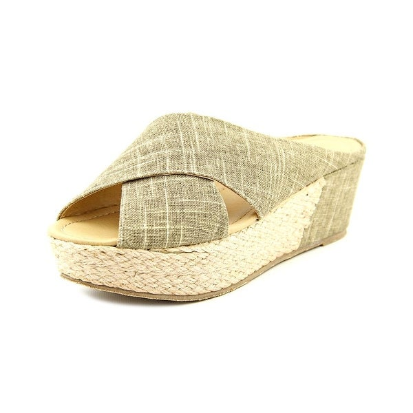 CL By Laundry Annalise Women Open Toe Canvas Wedge Sandal