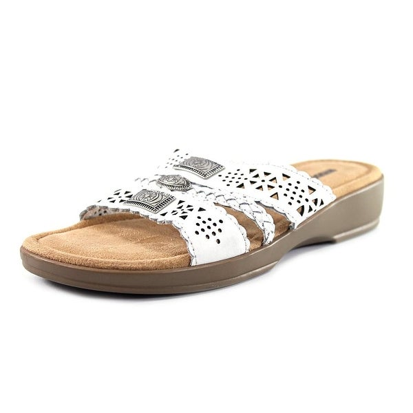 Minnetonka Gayle Womens White Sandals