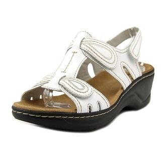 Shop Clarks Lexi Walnut Q Women W Open Toe Leather White