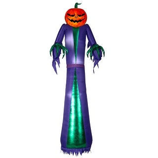Link to 12 ft. Fire & Ice Jack-O-Reaper Similar Items in Outdoor Halloween Decorations