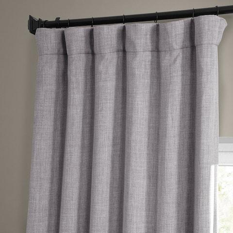 Exclusive Fabrics Faux Linen Room Darkening Curtain(1 Panel)
