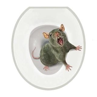 Realistic Toilet Seat Tattoo - Sewer Rat - Oval