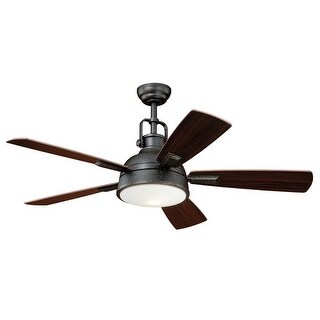 "Vaxcel Lighting F0033 Walton 52"" 5 Blade Indoor Ceiling Fan - Light Kit and Fan Blades Included - gold stone"