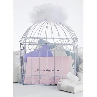 """Gift Card Holder 10""""X7""""X12""""-Bird Cage - White"""