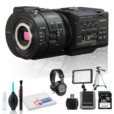 Sony NEX-FS700R Camcorder with Microfiber Cloth, Lens Cleaning Kit,