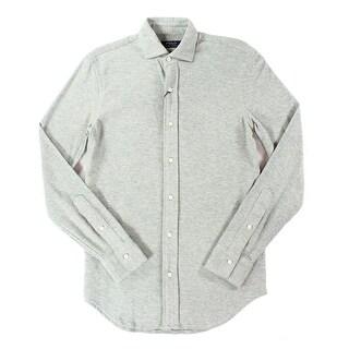 Polo Ralph Lauren NEW Gray Mens Size 2XL Mesh Button Down Shirt