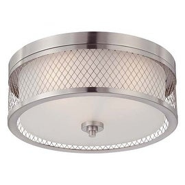 Nuvo Lighting 60/4691 Fusion 3 Light Flush Mount Indoor Ceiling Fixture - 15 Inches Wide - Brushed Nickel