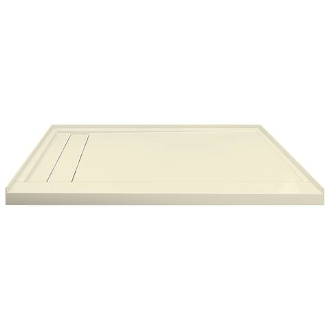 """Transolid Linear 60"""" x 30"""" Alcove Shower Base with Left Hand Drain - 60"""" x 30"""""""